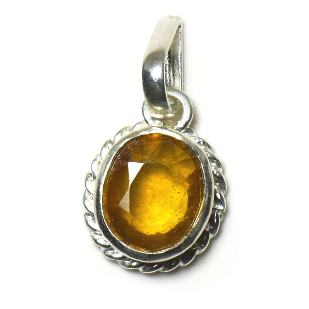 sterling stone yellow carat itm is classiy jewelry silver sapphire pendant loading image