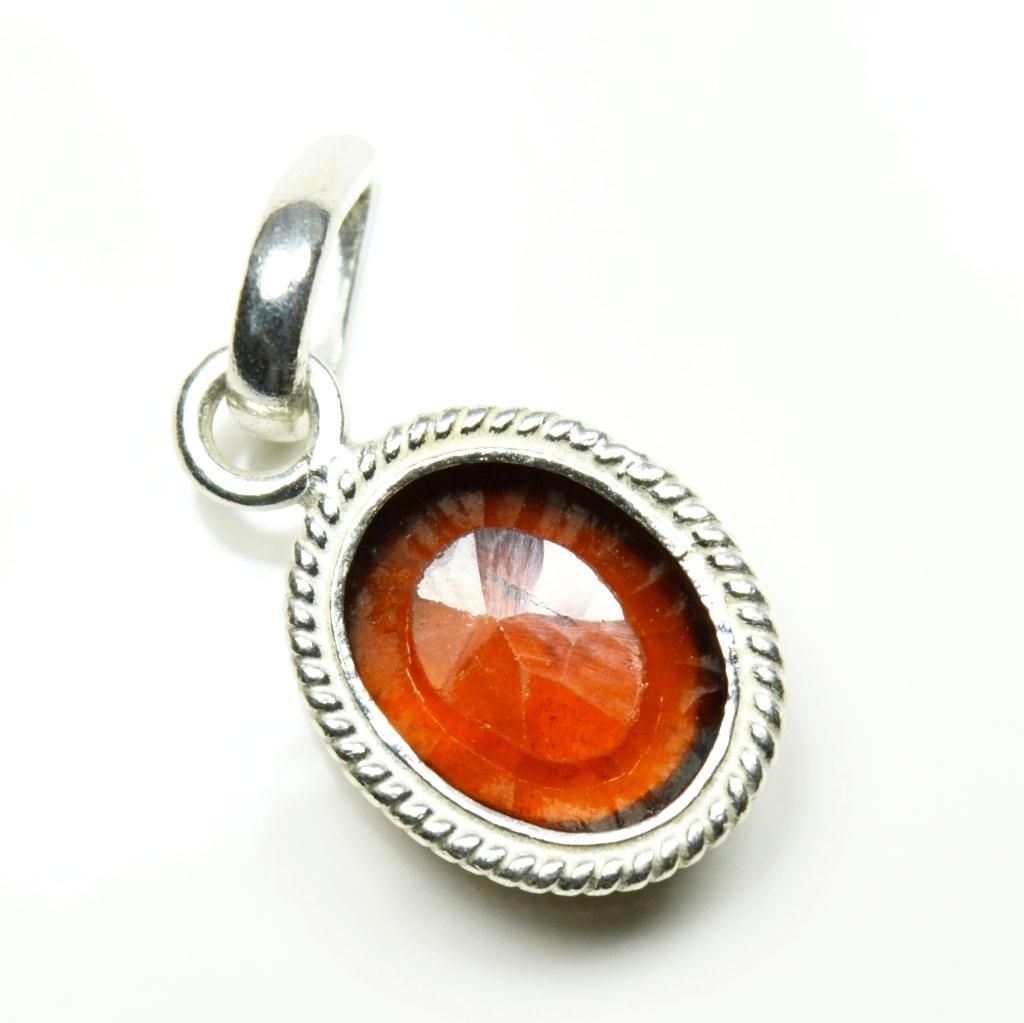 Echte-Ceylon-Hessonite-Sterling-Silber-5-Karat-Edelstein-Anhanger-Charm-Schmuck Indexbild 4