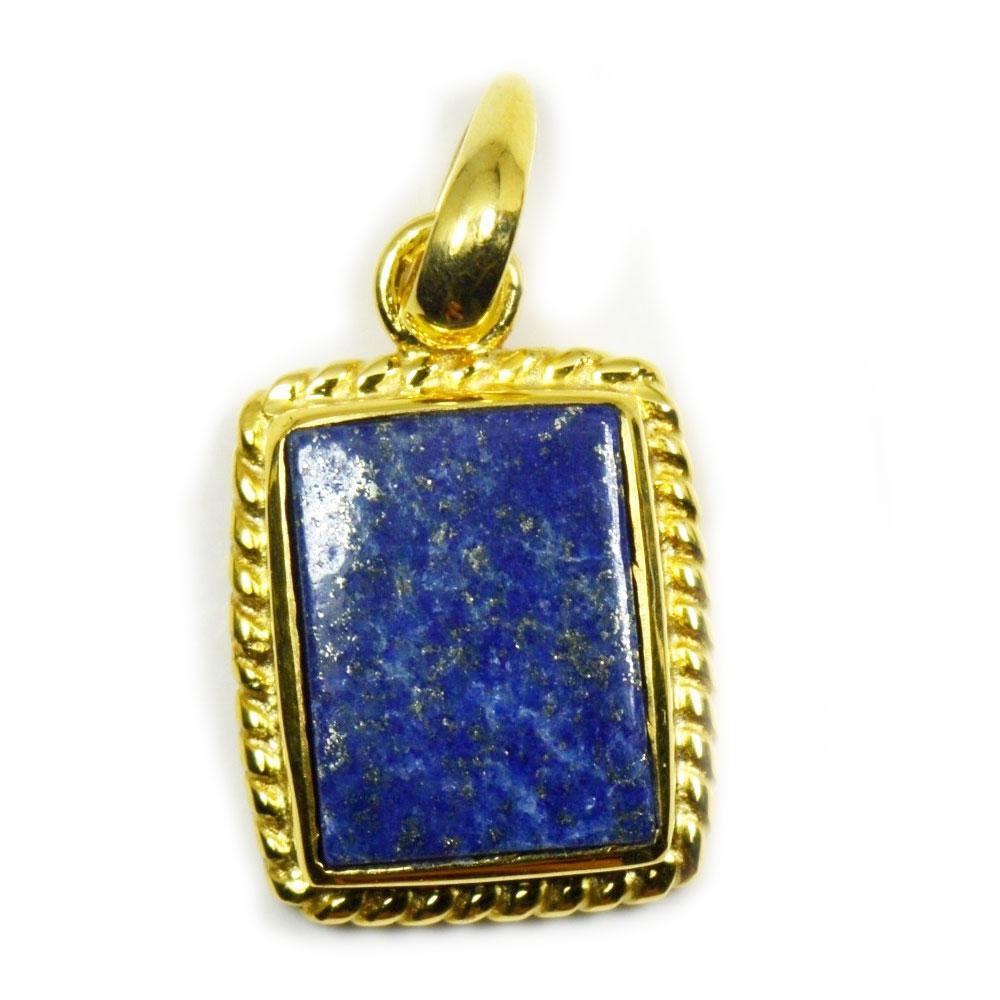 Natural-Vergoldete-Lapis-Lazuli-Anhanger-5-Karat-Halskette-Edelstein-Schmuck